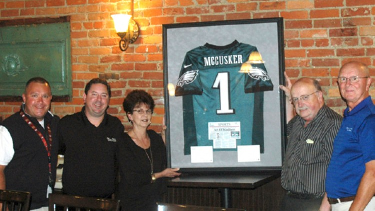 The Pub Hangs McCusker Jersey From Goodell